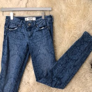 Abercrombie & Fitch Floral Jeans